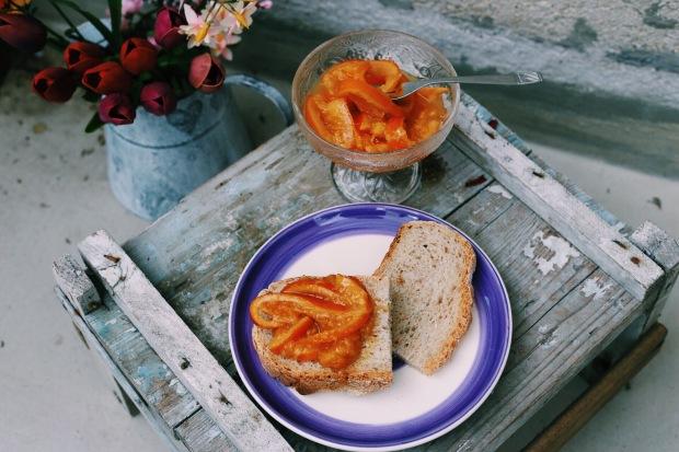 Marmellata di arance alla vaniglia e zenzero semicandito