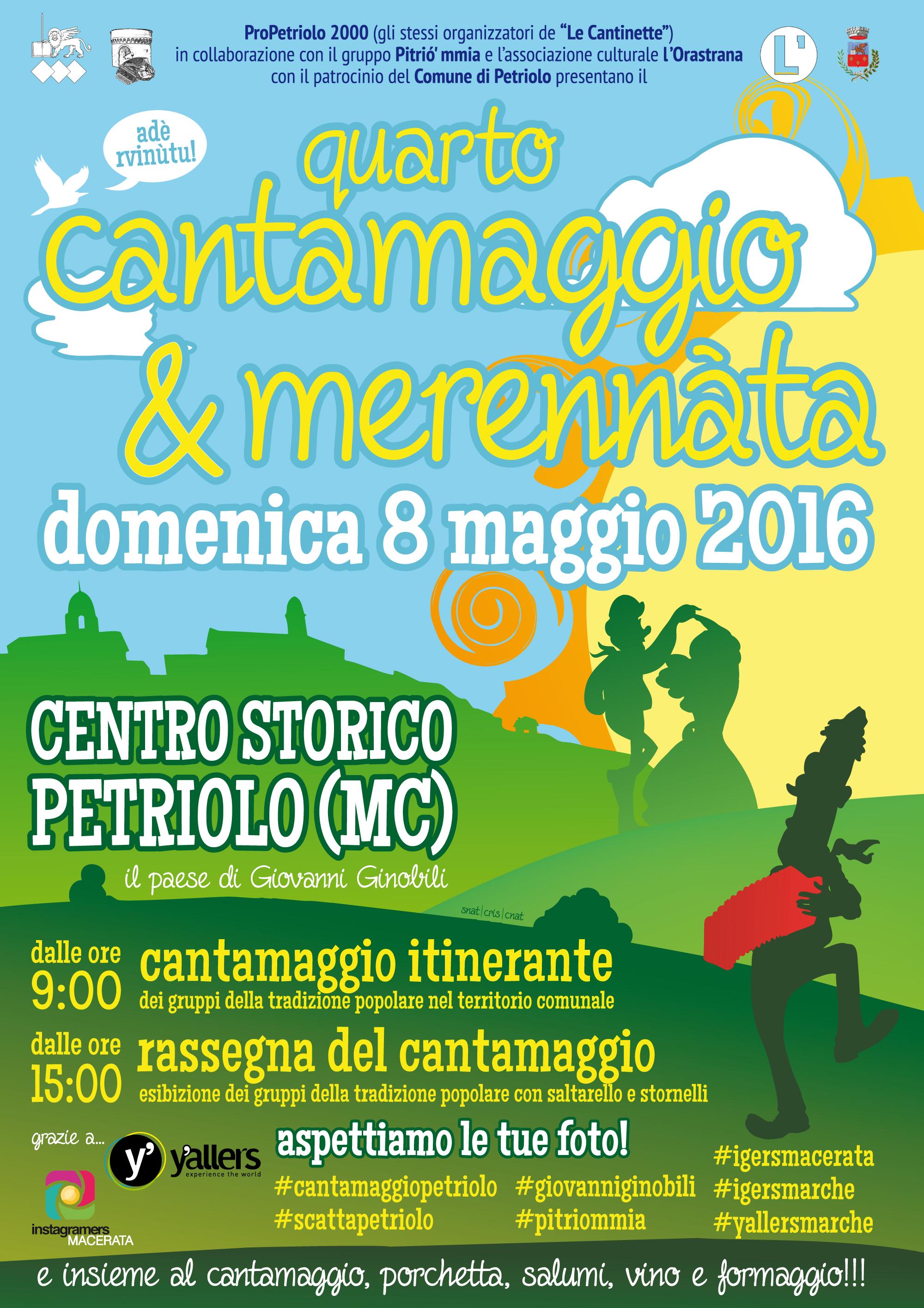 Quarto Cantamaggio di Petriolo (Macerata) – domenica 8 maggio 2016 (clicca per ingrandire)