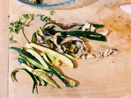 Le tagliatelle di verdure