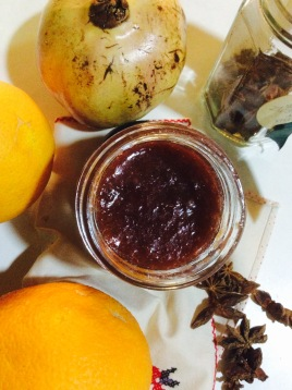 Marmellata di melagrane ed arance all'anice stellato